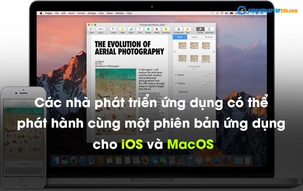 Các nhà phát triển ứng dụng có thể phát hành cùng một phiên bản ứng dụng cho iOS và MacOS