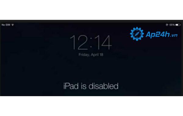 Cách khắc phục iPad bị vô hiệu hóa
