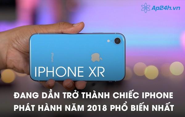 iPhone XR đang dần trở thành chiếc iPhone phát hành năm 2018 phổ biến nhất