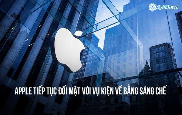 Apple tiếp tục đối mặt với vụ kiện về bằng sáng chế