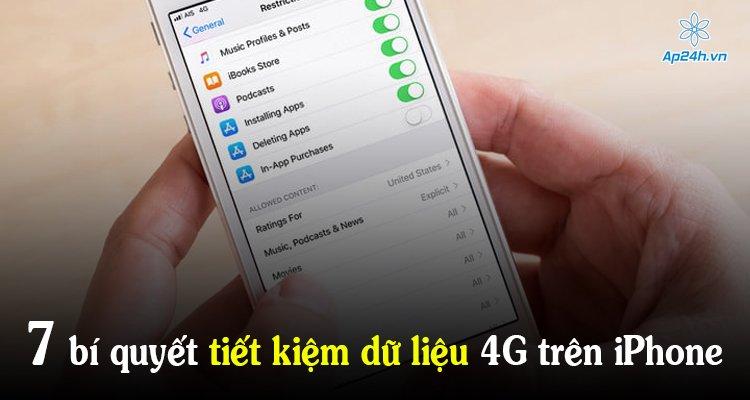 7 bí quyết tiết kiệm dữ liệu 4G trên iPhone