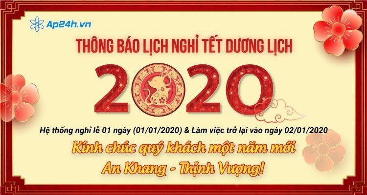 Thông báo nghỉ lễ Tết Dương lịch 2020