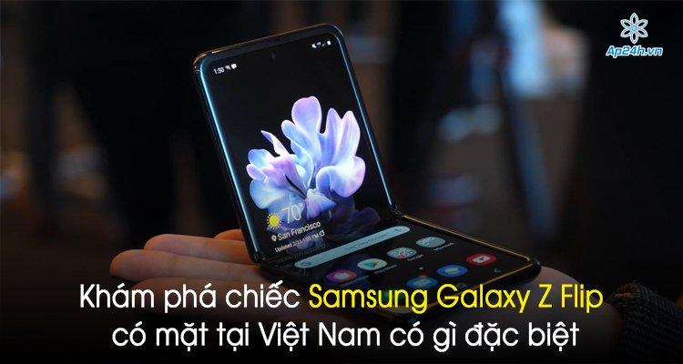 Khám phá chiếc Samsung Galaxy Z Flip có mặt tại Việt Nam có gì đặc biệt