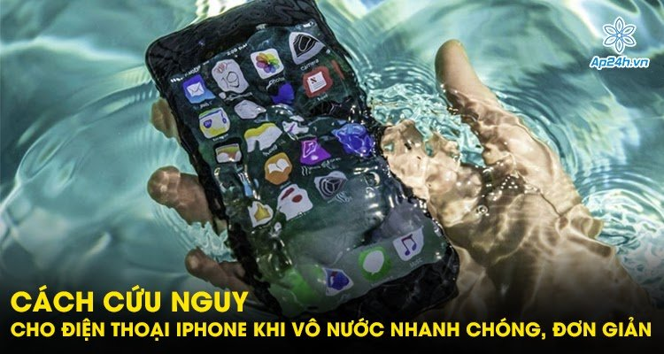 Cách cứu nguy cho điện thoại iPhone khi vào nước nhanh chóng, đơn giản