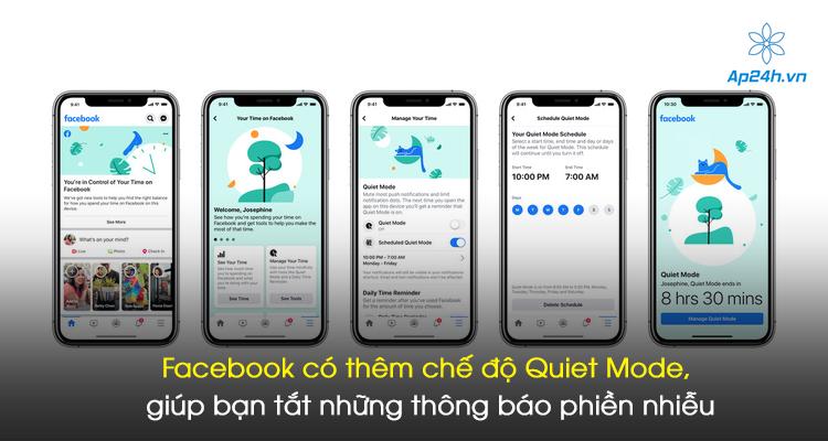 Facebook có thêm chế độ Quiet Mode, giúp bạn tắt những thông báo phiền nhiễu