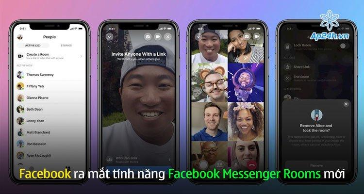 Facebook ra mắt tính năng Facebook Messenger Rooms mới