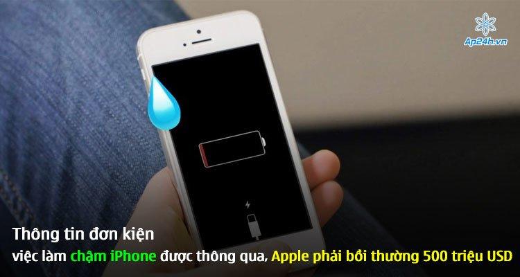 Thông tin đơn kiện việc làm chậm iPhone được thông qua, Apple phải bồi thường 500 triệu USD