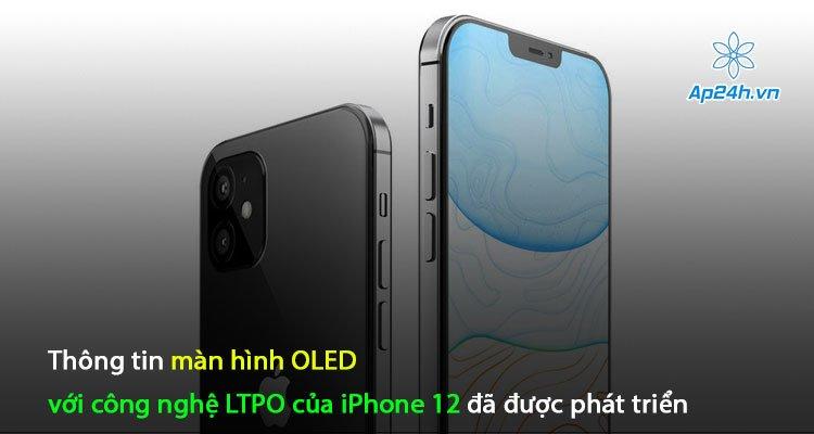 Thông tin màn hình OLED với công nghệ LTPO của iPhone 12 đã được phát triển