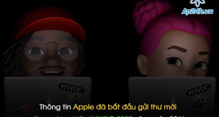 Thông tin Apple đã bắt đầu gửi thư mời tham dự sự kiện WWDC 2020 vào ngày 22/6