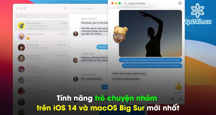 Tính năng trò chuyện nhóm trên IOS 14 và macOS Big Sur mới nhất