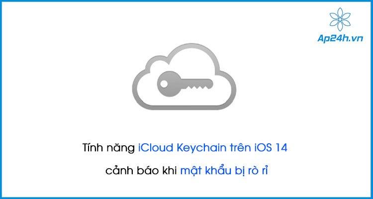 Tính năng iCloud Keychain trên iOS 14 cảnh báo khi mật khẩu bị rò rỉ