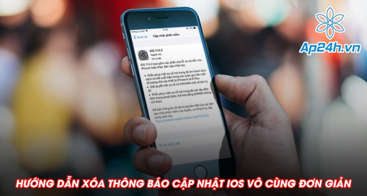 Hướng dẫn xóa thông báo cập nhật iOS vô cùng đơn giản