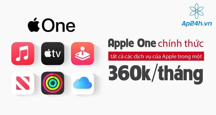 Apple One chính thức: tất cả các dịch vụ của Apple trong một, 360k/tháng
