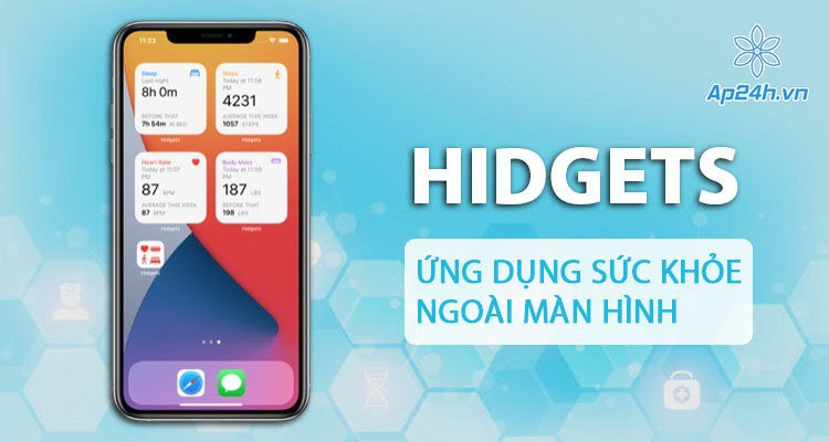 Hidgets: Khám phá tình trạng sức khỏe trên màn hình chính iOS 14