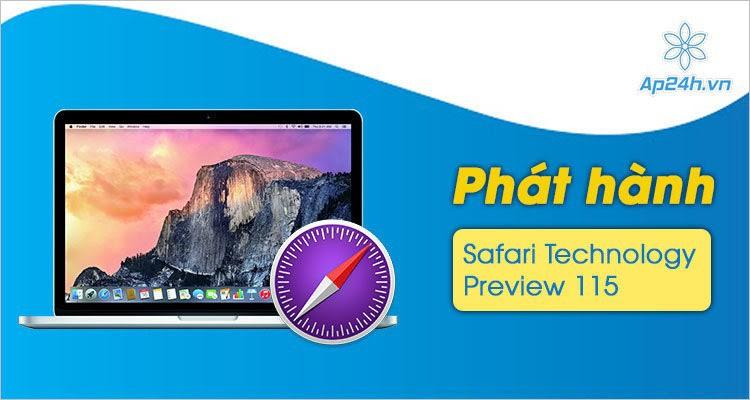 Apple phát hành bản thử nghiệm Safari có sửa lỗi và cải thiện hiệu suất