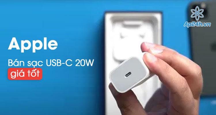Bắt đầu bán củ sạc 20W Apple USB-C giá tốt