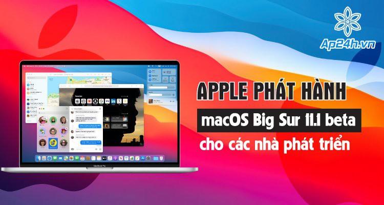 Apple phát hành macOS Big Sur 11.0.1 beta cho các nhà phát triển