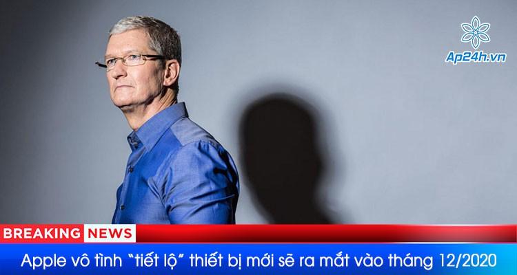 """Thiết bị Apple mới """"vô tình được tiết lộ"""" ngày ra mắt vào đầu tháng 12 năm 2020"""