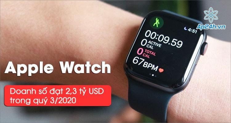 Apple Watch đạt doanh số 2,3 tỷ USD trong quý 3, sản lượng bằng 1/3 thị trường
