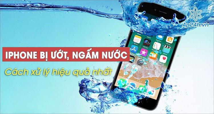 Cách xử lý nhanh iPhone bị ướt, ngấm nước vào hiệu quả nhất