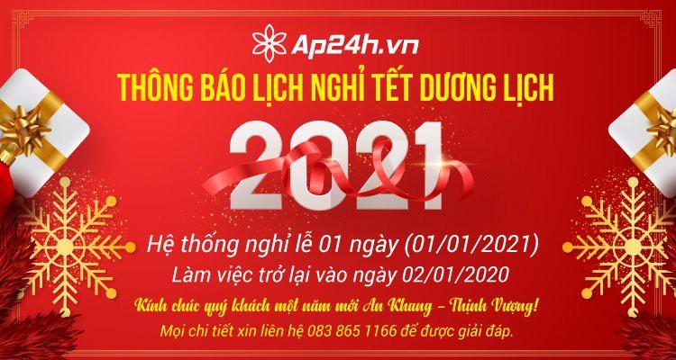 Thông báo nghỉ Tết dương lịch Tân Sửu 2021