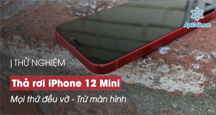 Thử nghiệm thả rơi iPhone 12 Mini: Mọi thứ đều vỡ, trừ màn hình