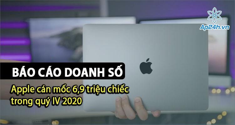 Báo cáo: Doanh số bán Mac của Apple đạt 6,9 triệu chiếc trong Quý IV 2020