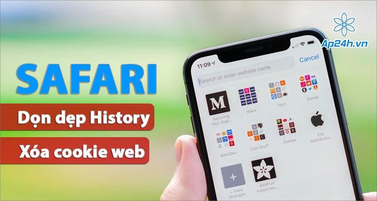 Dọn sạch dữ liệu duyệt web và xóa cookie Safari iPhone, iPad