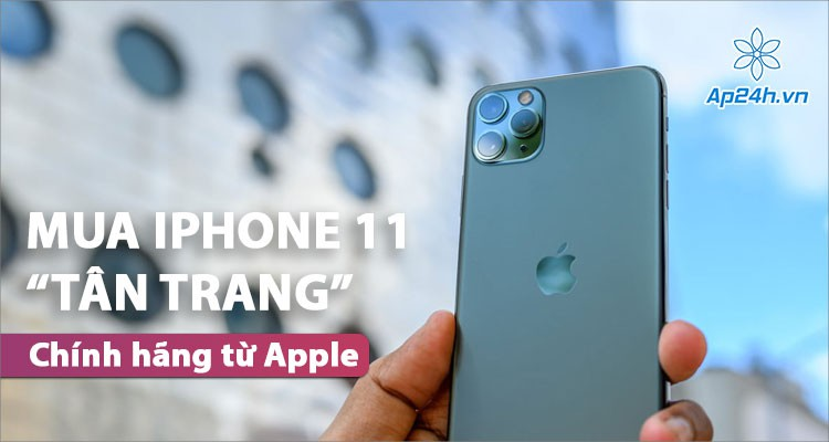 Người dùng có thể mua iPhone 11 tân trang chính hãng của Apple