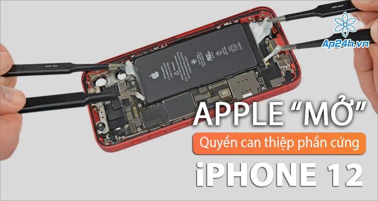 Apple: Đã có thể sửa kính lưng iPhone 12 mà không cần thay thế toàn bộ