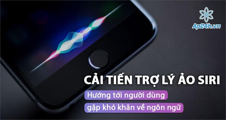 Cải tiến trợ lý ảo Siri mới hướng tới người dùng gặp khó khăn về ngôn ngữ