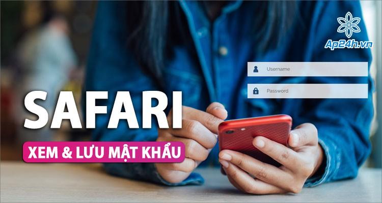 Cách lưu mật khẩu trên Safari với iPhone, iPad đơn giản nhất