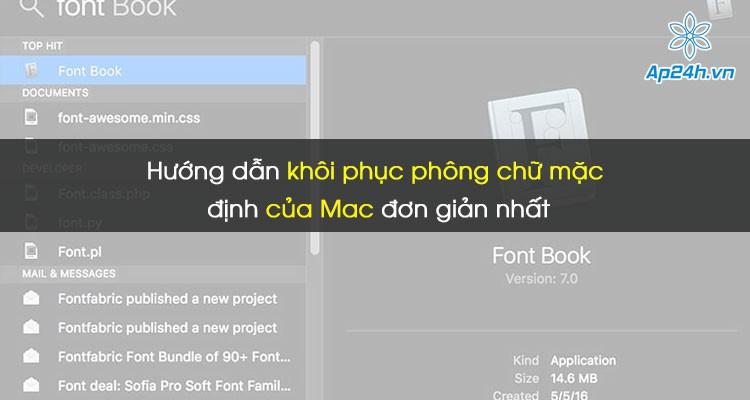 Hướng dẫn khôi phục phông chữ mặc định của Mac đơn giản nhất