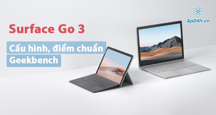 Lộ cấu hình, điểm chuẩn của Surface Go 3 trên Geekbench