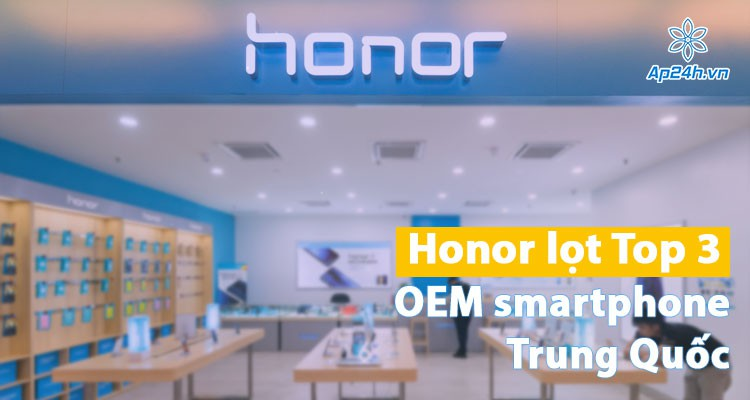 Soán ngôi Apple, Honor lọt Top 3 nhà sản xuất smartphone tại Trung Quốc
