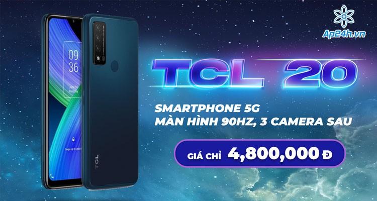 TCL 20 R 5G - Smartphone giá rẻ với màn hình 90Hz và 3 camera sau