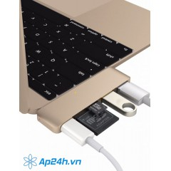 HYPERDRIVE USB TYPE-C 5-IN-1 HUB WITH PASS THROUGH CHARGING (FOR 2016 MACBOOK PRO & 12″ MACBOOK)