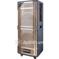 Loa Kéo Di Động Karaoke Daichipro DCP-24A (1500W) 3 Tấc đôi