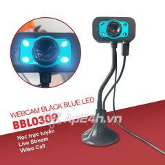 Webcam Black Blue Led BBL0309