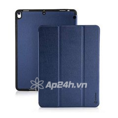 BAO DA TOMTOC (USA) SMART COVER SLIM WITH PEN HOLDER FOR IPAD 10.5NCH(Drank Blue)