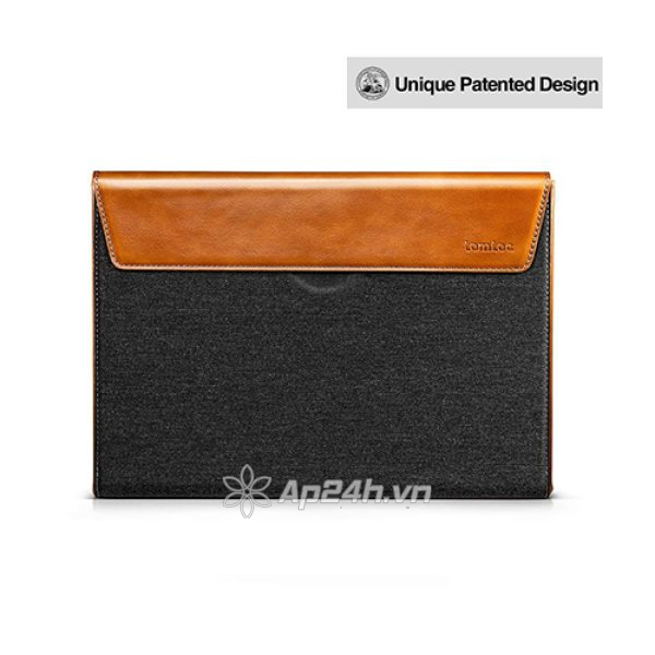 TÚI CHỐNG SỐC TOMTOC (USA) PREMIUM LEATHER FOR MACBOOK PRO 16″ NEW GRAY