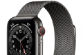 Apple Watch Series 6 44mm GPS + Cellular Graphite Stainless Steel Case with Graphite Milanese Loop
