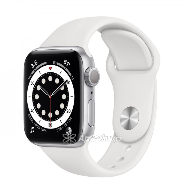 Apple Watch Series 6 GPS 44mm M00D3VN/A Silver Aluminium Case with White Sport Band (Apple VN)