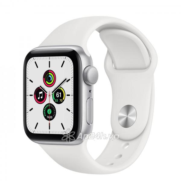 Apple Watch SE GPS 40mm MYDM2VN/A Silver Aluminium Case with White Sport Band (Apple VN)