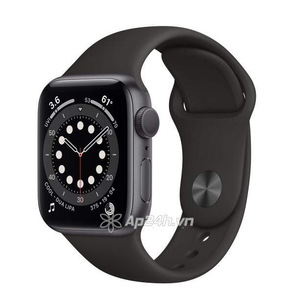 Apple Watch Series 6 GPS 40mm MG133VN/A Space Gray Aluminium Case with Black Sport Band (Apple VN)