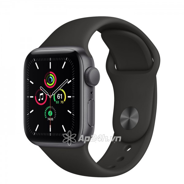 Apple Watch SE GPS 40mm MYDP2VN/A Space Gray Aluminium Case with Black Sport Band (Apple VN)