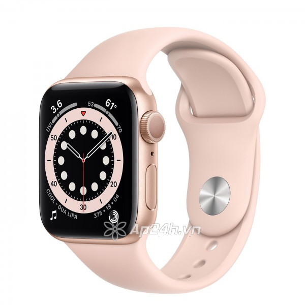 Apple Watch Series 6 GPS 44mm M00E3VN/A Gold Aluminium Case with Pink Sand Sport Band (Apple VN)