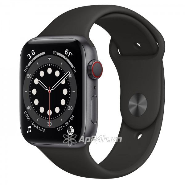 Apple Watch Series 6 GPS + Cellular 40mm M06P3VN/A Space Gray Aluminium Case with Black Sport Band (Apple VN)