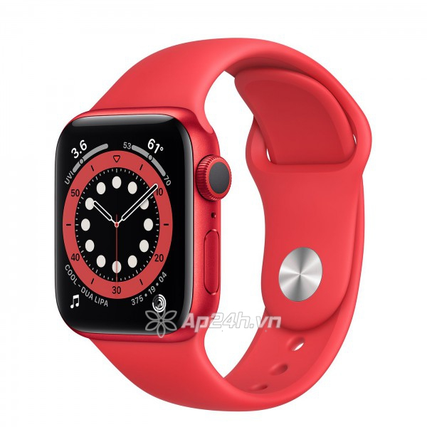 Apple Watch Series 6 GPS 44mm M00M3VN/A Red Aluminium Case with PRODUCT (RED) Sport Band (Apple VN)