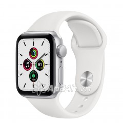 Apple Watch SE GPS 44mm MYDQ2VN/A Silver Aluminium Case with White Sport Band (Apple VN)